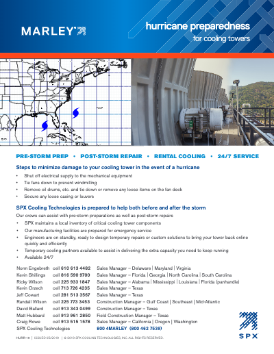 Cooling Tower Hurricane Preparedness – Process Cooling
