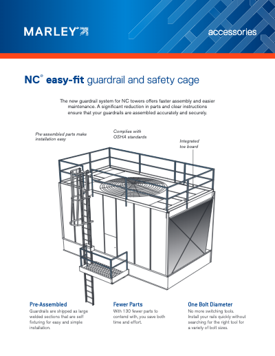 Guardrail System for Marley NC Cooling Tower