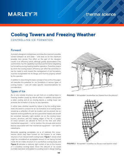 Operating Cooling Towers in Freezing Weather