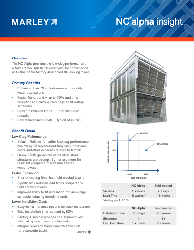 Marley Insight – NC Alpha Cooling Tower