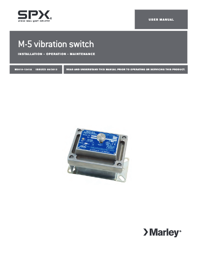 Marley M-5 Vibration Switch User Manual – Non Current