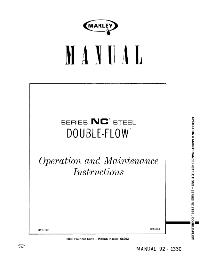 Marley Series 8600 NC User Manual – Non Current