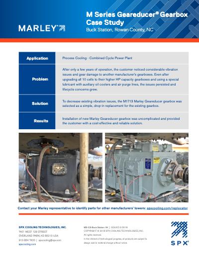 M Series Geareducer Case Study – Buck Station