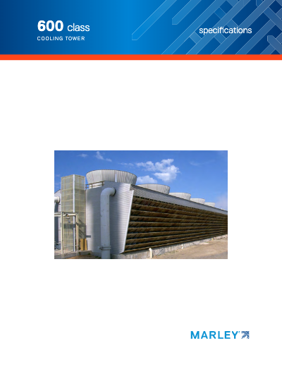 Class 600 Crossflow Cooling Tower Specifications