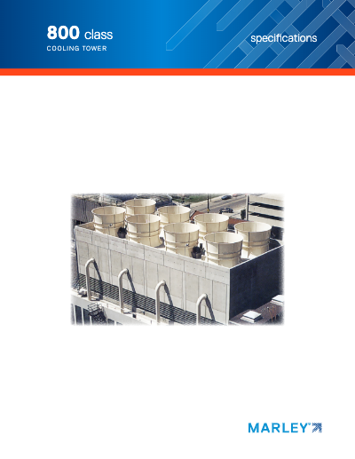Class 800 Counterflow Cooling Tower Specifications
