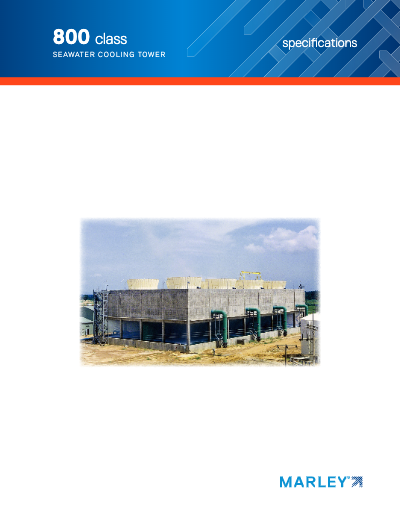 Class 800 Counterflow Cooling Tower Specifications-Seawater