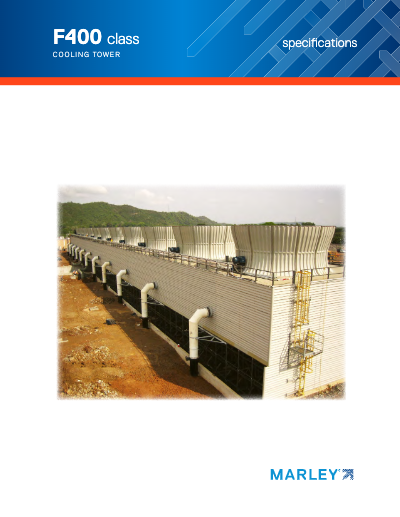 Class F400 Counterflow Cooling Tower Specifications