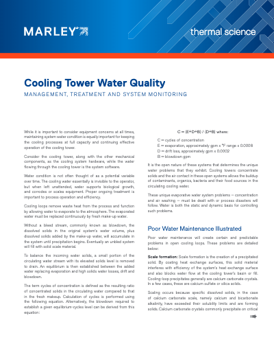 How to Manage Cooling Tower Water Quality