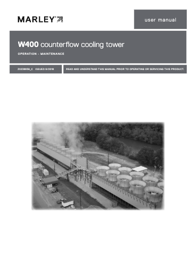 Class W400 Counterflow Tower Manual