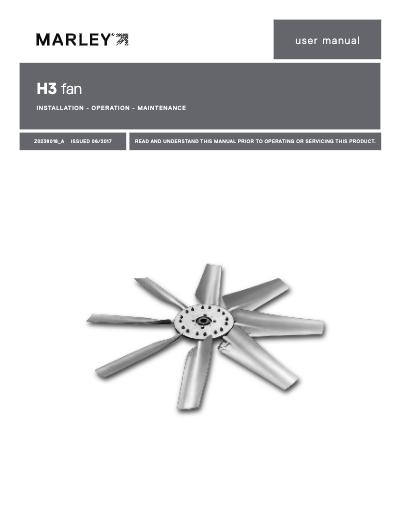 Marley H3 Fan User Manual