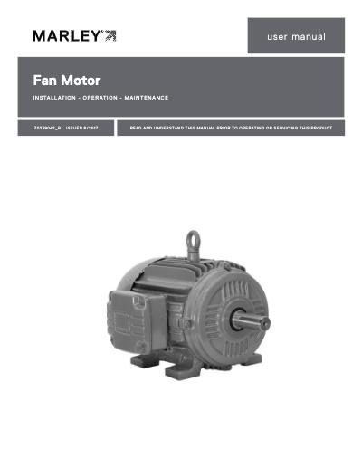 Marley Electric Motor User Manual