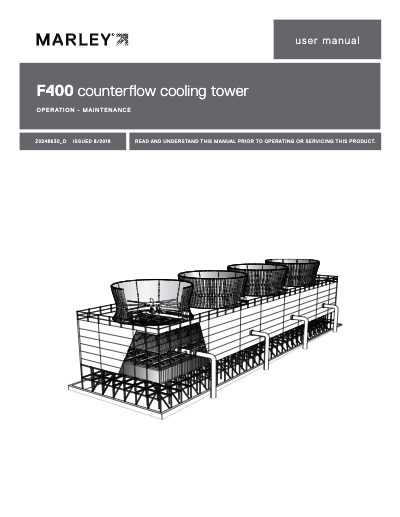 Class F400 Cooling Tower User Manual