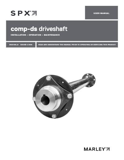 Marley Comp-DS Driveshaft User Manual
