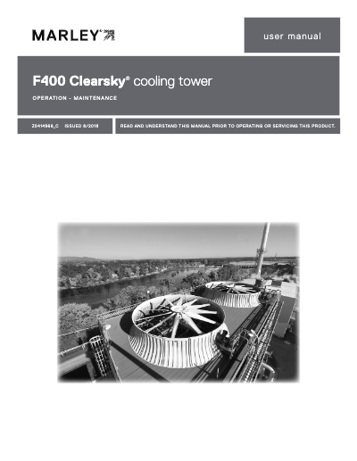 F400 ClearSky Cooling Tower User Manual