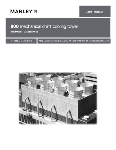 Class 800 Mechanical Draft Cooling Tower User Manual