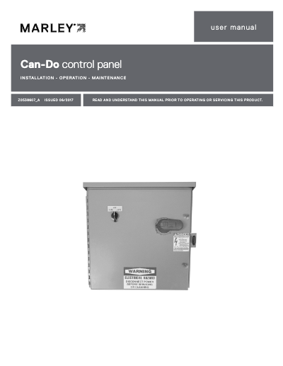 Marley Can-Do Control Panel User Manual