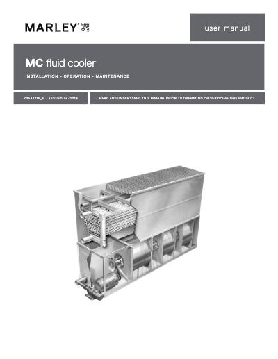 Marley MC Fluid Cooler User Manual