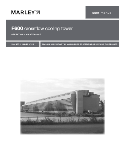 Class F600 Cooling Tower Manual
