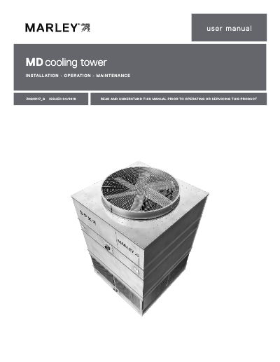 Marley MD Cooling Tower User Manual