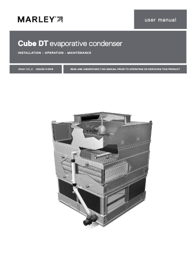 Cube DT Evaporative Condenser IOM User Manual