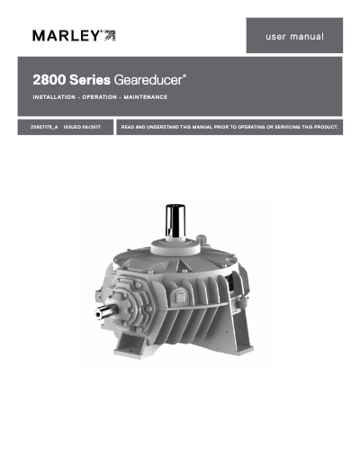 2800 Geareducer IOM User Manual