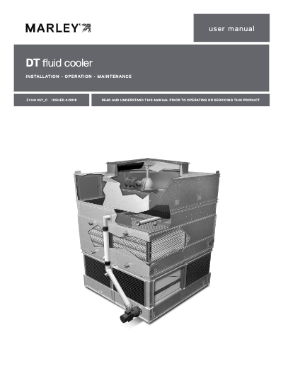 DT Fluid Cooler IOM User Manual