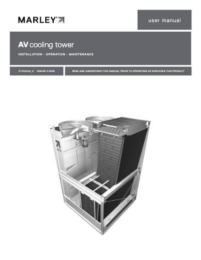 AV6800 Cooling Tower IOM User Manual