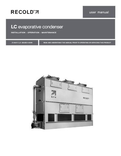 LC Evaporative Condenser IOM User Manual
