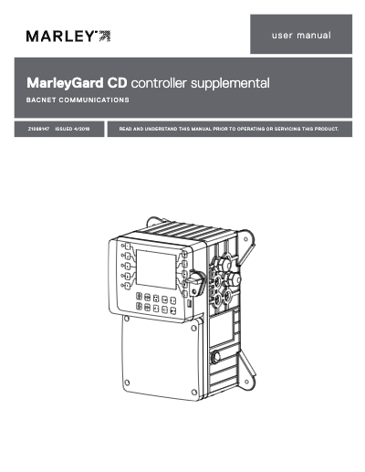 MarleyGard CD Controller BACNET User Manual