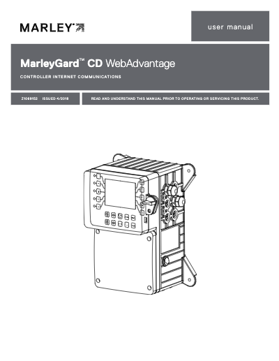 MarleyGard CD Controller WebAdvantage User Manual