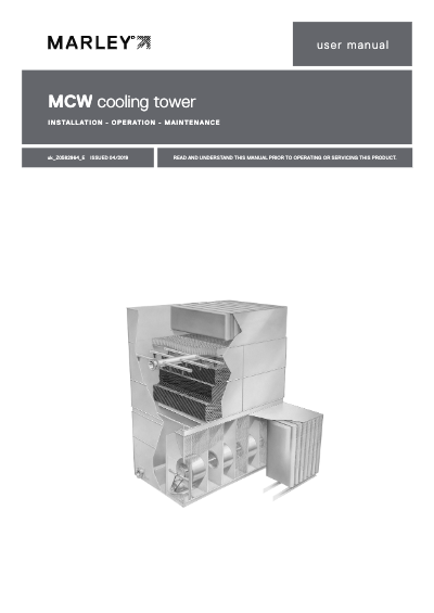 Marley MCW Cooling Tower User Manual